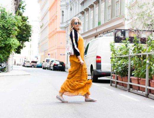 Streetstyle-Fashion-Nakd-Maxikleid-senfgelb-Bomberjacke-Fashionblogger-Giveherglitter-9