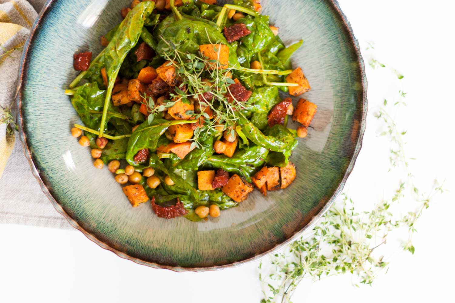 Sweet-Potato-Chickpea-Süßkartoffeln-Kichererbsen-Salat-Clean-Eating-Summersalad-Sommersalat-Spinat-Foodbogger-Austria-Giveherglitter-5