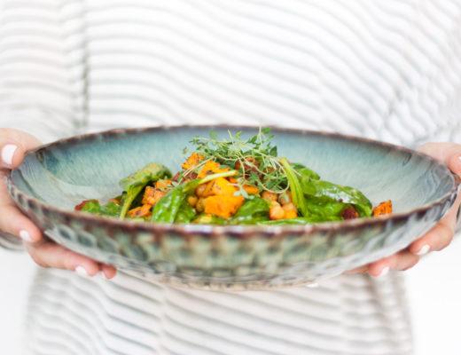 Sweet-Potato-Chickpea-Süßkartoffeln-Kichererbsen-Salat-Clean-Eating-Summersalad-Sommersalat-Spinat-Foodbogger-Austria-Giveherglitter-6